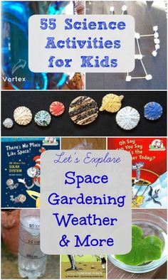 Science Experiments & Activities that cover space, weather, gardening, human body & trees!  Each activity pairs with a Cat in the Hat book too. Great for preschool and elementary science & STEM projects.