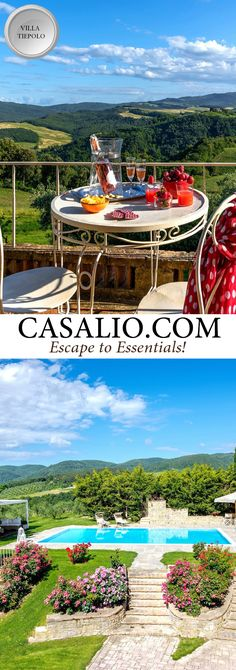 www.casalio.com || Villa Tiepolo || Italy - Tuscany - Pisa || 7 bedrooms, pool. A magnificent villa overlooking the greenery and beautiful hills of the Chianti. #luxurytravel #travel #luxuryvillas #tuscanyvillas #tuscanvillas #pool #tuscany #pisa #travel #holiday #vacation (Pinned by #Casalio - www.casalio.com) Our travel blog www.casaliotravel.com