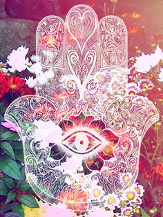 Hand of fatima / Die Hand der Fatima ॐ Hand Der Fatima, Psy Art, Hamsa Hand, Psychedelic Art, Sacred Geometry, Trippy, Ikon, Illustration, Iphone Wallpaper