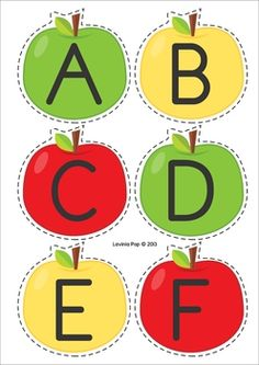 Back to School Literacy Centers for Kindergarten. Apple sorting activity: sorting lower case letter, upper case letters and number. Can also use these cared for alphabet and number order. Kindergarten Learning, Toddler Learning Activities, Preschool Education, Preschool Activities, Teaching Kids, Preschool Apple Theme, Apple Activities, Fall Preschool, School Themes