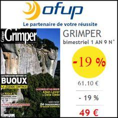 #missbonreduction; 19 % de remise sur l'abonnement au magazine GRIMPER chez Ofup.http://www.miss-bon-reduction.fr//details-bon-reduction-Ofup-i349-c1830305.html