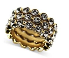 Givenchy 10k Gold-plated Swarovski Element Stacked Jewelry $50