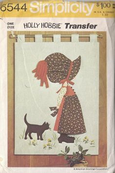 Vintage Sewing Pattern Holly Hobbie Wall Hanging by RaimentRevival, $6.49