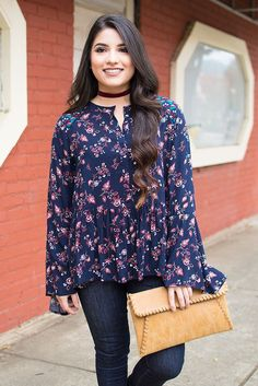 Umgee Fresh Floral Blouse