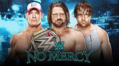 WWE World Champion AJ Styles battles John Cena and Dean Ambrose