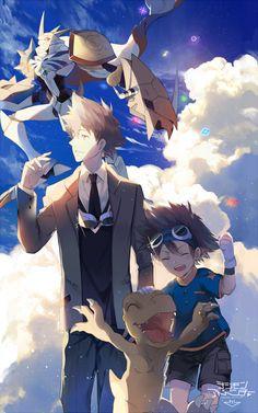 Enter the Digital World! Digimon Adventure Tri., Digimon Seasons, Anime Comics, Drawing People, Manga Games, All Art, Pokemon, Childhood, Digital