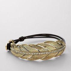Feather Bracelet from Fossil Cute Jewelry, Jewelry Bracelets, Jewelry Accessories, Vintage Jewelry, Jewelry Design, Jewellery, Fossil Bracelet, Fossil Jewelry, Mein Style