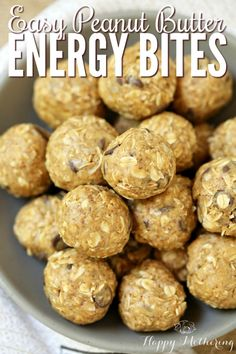 I love having healthy, natural snacks available all the time! These easy peanut butter energy bites are perfect for a grab-n-go snack! #AD http://www.happy-mothering.com/07/recipes/peanut-butter-energy-bites/
