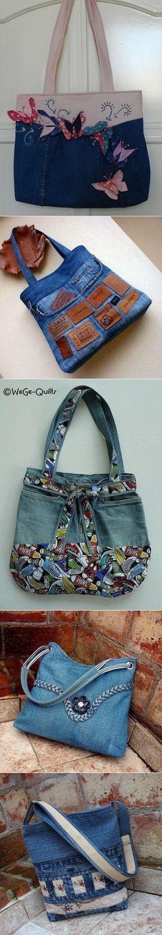 Denim BAGS... ♥ Deni