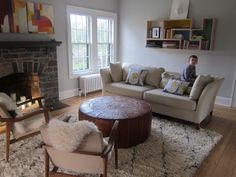 Living room re-design for a family's beloved home in New Jersey. (Feng Shui Design by: Elana Kilkenny)
