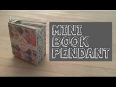 Art & Craft DIY : How to create a mini book pendant for a necklace,keys...