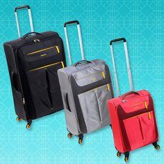 COLECCIÓN GINZA Espectaculares valijas de 4 ruedas, superlivianas y destacado colorido. www.primicia.com.ar