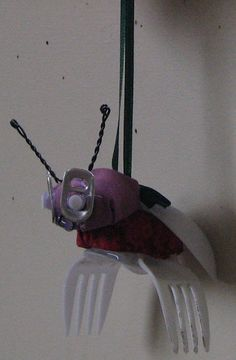 cute bug using recycled materials