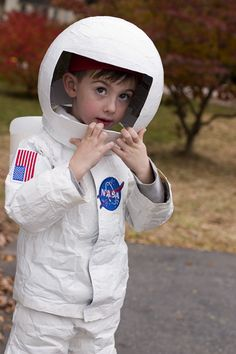 "For Nigel. He is specific about wanting a ""bubble helmet"" Astronaut costume ... made with duct tape.  brilliant."