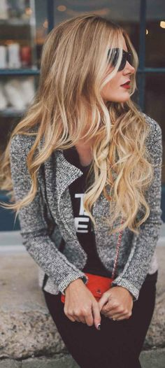 Long blond hair. Visit Walgreens.com for great hair products and accessories