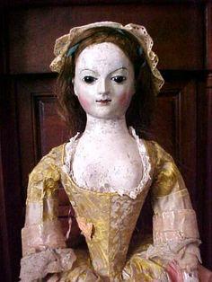 1700-1800 queen ann english wooden doll dress bodice