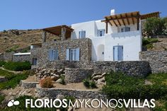 This amazing Villa is located in a lovely panoramic position overlooking Agios Ioannis (St. John) Bay, in a short distance from the sea. A private parking and garden pathway leads to the villa's own entrance and outdoor areas. FMV1501 Villa for Rent on Mykonos island Greece. http://florios-mykonos-villas.com/property/fmv1501/