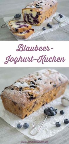 Lightning-fast blueberry yoghurt cake- Blitzschneller Blaubeer-Joghurt-Kuchen Blueberry yogurt cake – juicy, fluffy and simply delicious. With fresh blueberries and yoghurt – a very simple, uncomplicated recipe. Easy Cake Recipes, Cookie Recipes, Dessert Recipes, Fast Recipes, Whole30 Recipes, Sweet Recipes, Baking Recipes, Cakes Originales, Blueberry Yogurt Cake