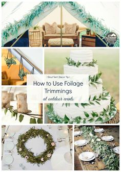 How to Use Foliage Trimmings as Outdoor Design-  by Stout Tent -Eucalyptus garland DIY