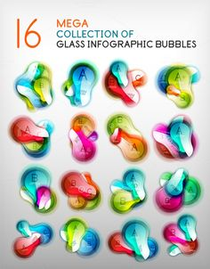 Trendy glass infographic bubbles by antishock on @graphicsmag