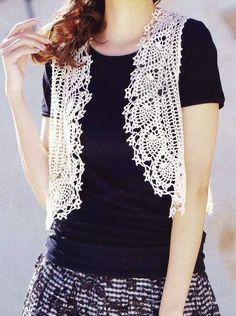 Crochet Sweater: Crochet Lace Vest Pattern - Simple and Stylish