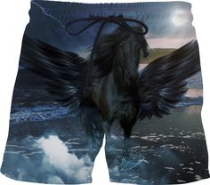 Check out my new product https://www.rageon.com/products/black-pegasus-swim-shorts on RageOn!