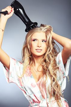 ideas on how to blow dry your hair faster with long hair !