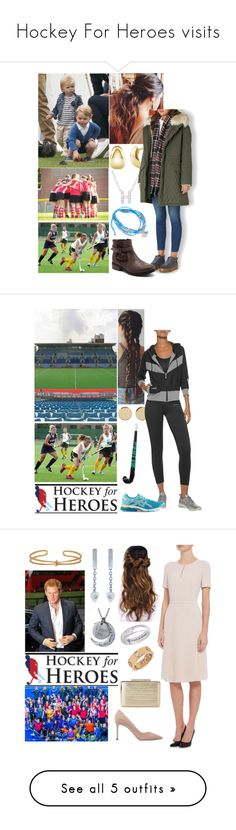 """""""Hockey For Heroes visits"""" by alicewindsor ❤ liked on Polyvore featuring BERRICLE, Plukka, Who's Who, Yves Salomon, Magdalena Frackowiak, Bodyism, Asics, Jimmy Choo, L.K.Bennett and Cartier"""