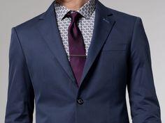 The Voyager Blue Cotton & Silk Suit