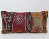 decorative pillow ethnic pillow cover kilim pillow wool pillow case decorative pillow lumbar sofa pillow case rug moroccan pillow case 25587