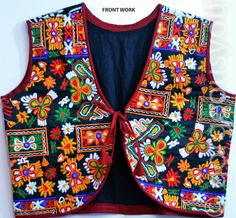 Women Ethnic Embroidery Kutch Work High Quality Double Lining Top Jacket
