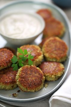 Delicately seasoned falafel (Middle Eastern chickpea fritters) served with creamy tahini sauce. Enjoy in pita bread with crisp salad vegetables, or simply by themselves as a delightful appetizer. Red Lentil Recipes, Indian Food Recipes, Whole Food Recipes, Vegetarian Recipes, Cooking Recipes, Healthy Recipes, Recipes With Tahini, Pita Recipes, Healthy Eats