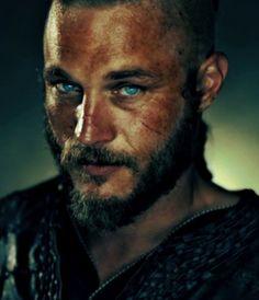 "Those eyes. Travis Fimmel as Ragnar Lothbrok in Vikings. Yep I purposely put him in the ""Breakfast"" group ;)"