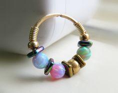 Cartilage Hoop, Septum Ring, Jewelry Shop, Handmade Jewelry, Daith Earrings, Nose Ring Stud, Opal Rings, Jewelery, Schmuck