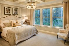 The Vincent model master suite, complete with a peaceful preserve view.