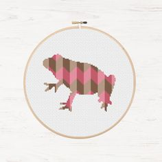 Frog Cross Stitch Pattern Toad Collage Polygon by Stitchonomy
