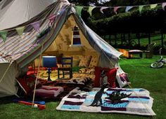 "I have no idea where ""glamping"" came from, but it looks like fun!"