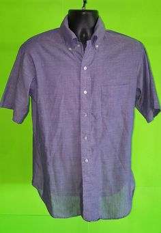 Vtg 50s 60s Towncraft Tapered Penny's Men's Short Sleeve Shirt - sz M - Thin #Towncraft #ButtonFront