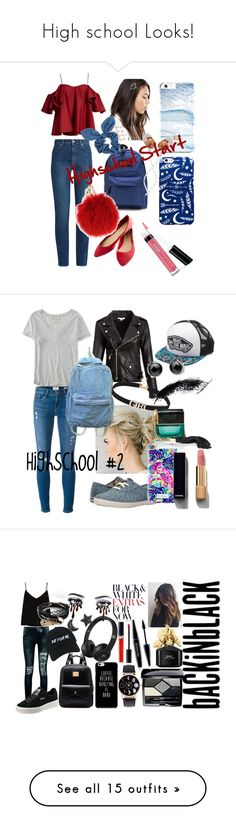 """High school Looks!"" by veewers ❤ liked on Polyvore featuring Anna October, Alexander McQueen, Wet Seal, Johnny Loves Rosie, The House of Marley, Dorothy Perkins, Furla, Bare Escentuals, Aéropostale and Frame"