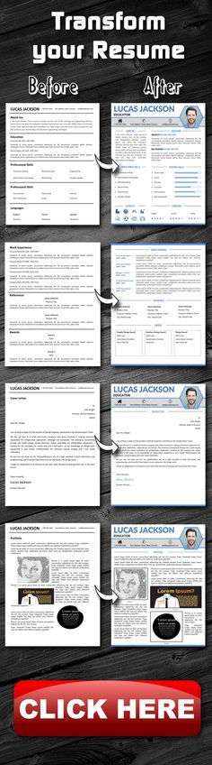 8 page Exclusive Resume Template + Cover Letter, References and - portfolio word template
