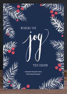 joy holiday card minted