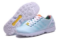 Women's Adidas Originals ZX Flux Weave W Shoes Bright Cyan/White/Black Shoes Sale Online Adidas Zx Flux, Steel Bike Frames, Air Max Sneakers, Sneakers Nike, Adidas Originals Zx Flux, Adidas Shoes Outlet, Bright, Black Shoes, Women's Shoes