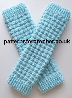 Ladies Leg Warmers - FREE Pattern from Patterns for Crochet