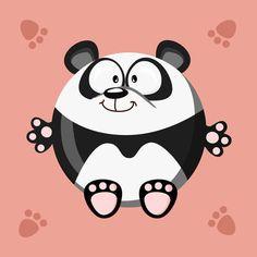 'Kugeltier+Panda'+von+Michaela+Heimlich+bei+artflakes.com+als+Poster+oder+Kunstdruck+$16.63