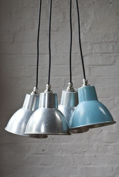 Aluminium pendant lights - Retrouvius Reclamation and Design