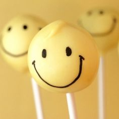 super sunny happie smilie cake pops