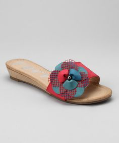 Take a look at this Red Melrose 100 Slide - Women by Henry Ferrera on #zulily today! AAhh spring!