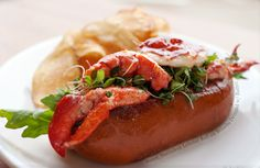 lobster roll on brioche drizzled with butter