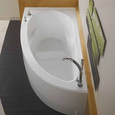 Bathroom Corner Soaking Tub With Jet : Bathroom Soaking Tub With Jets. add a relaxing new element to your daily routine with a soaking tub. soaking tub design ideas,soaking tub images,soaking tub pics,soaking tub pictures,soaking tub with jets Corner Soaking Tub, Corner Tub, Small Soaking Tub, Small Corner Bath, Corner Space, Bad Inspiration, Bathroom Inspiration, Contemporary Bathtubs, Bathtub Remodel