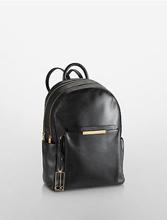 KENNER LEATHER DOUBLE ZIP BACKPACK $298.00